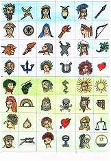 Götter für Rätselspiel