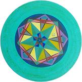 Pentagramme, bemalter Tisch