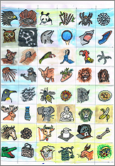 Tiere für Rätselspiel