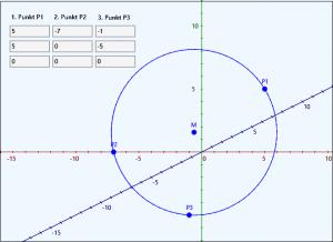Kreis in 3D durch 3 Punkte