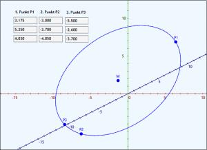 Im 3D-Vektorraum Kreis durch 3 Punkte