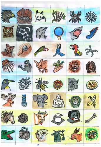 Tiere für Faqir, Bilder- und Zahlenrätsel