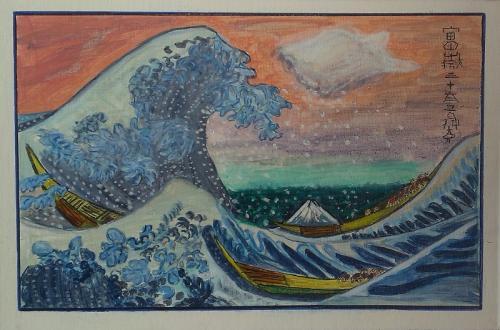 Die grosse Welle von Kanagawa