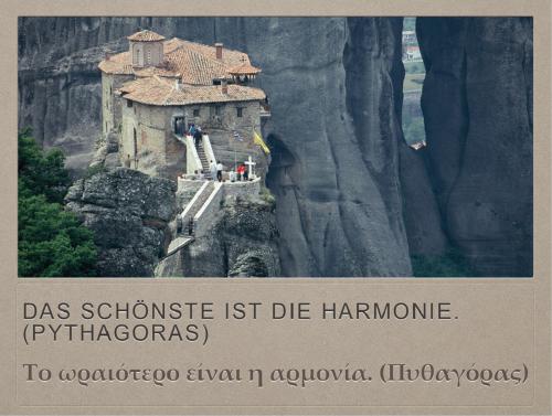 Das Schönste ist die Harmonie