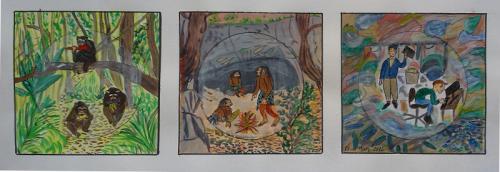 Affe -> Neandertaler -> Mensch