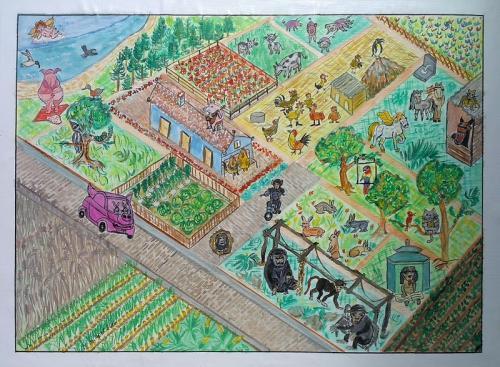 Happy animal farm