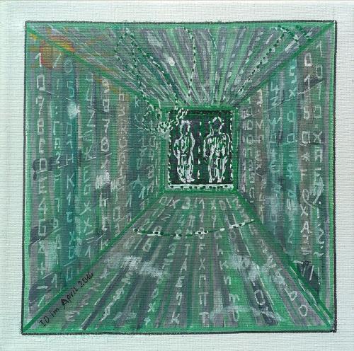 Menschen in der Matrix