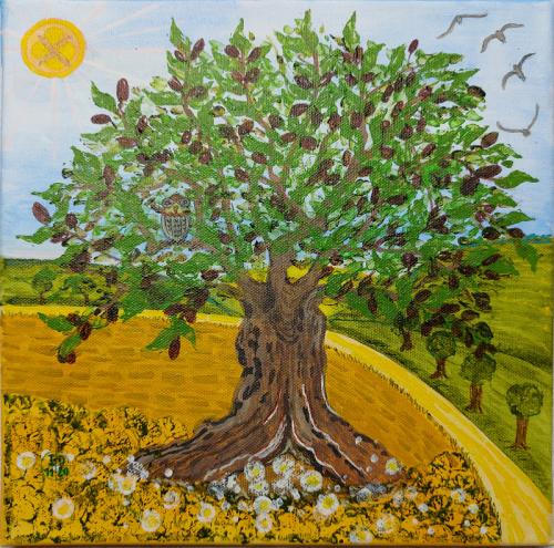 Das Versteck im Olivenbaum